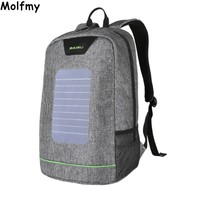 Brand Backpack Solar Powered Backpack Usb Charging Anti Theft 16 Inch Laptop Backpack For Men Women