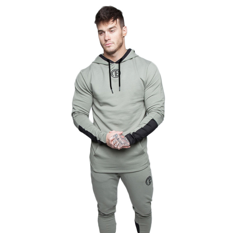 NEW Mens Sets Sport Suit Men Running Gym Sport wear Tracksuit Fitness Body building Mens Hoodies+Pants Sport Suits Male Clothing tian qiong men suit 2018 slim fit male printed suits stylish mens suits wedding groom designer prom wear brand clothing qt346