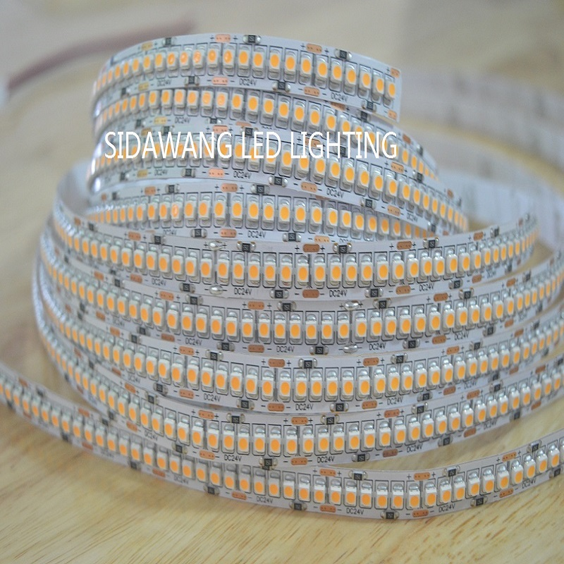 CRI >95+Ra SMD3528 Single Row LED Strip Lights Non Waterproof DC12/24V 5meter 1200leds for Indoor Continuous Lighting-in LED Strips from Lights & Lighting