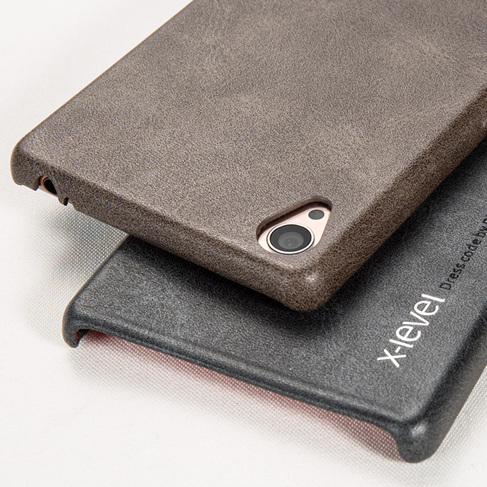 level new vintage leather phone case for sony xperia z3 ultra thin