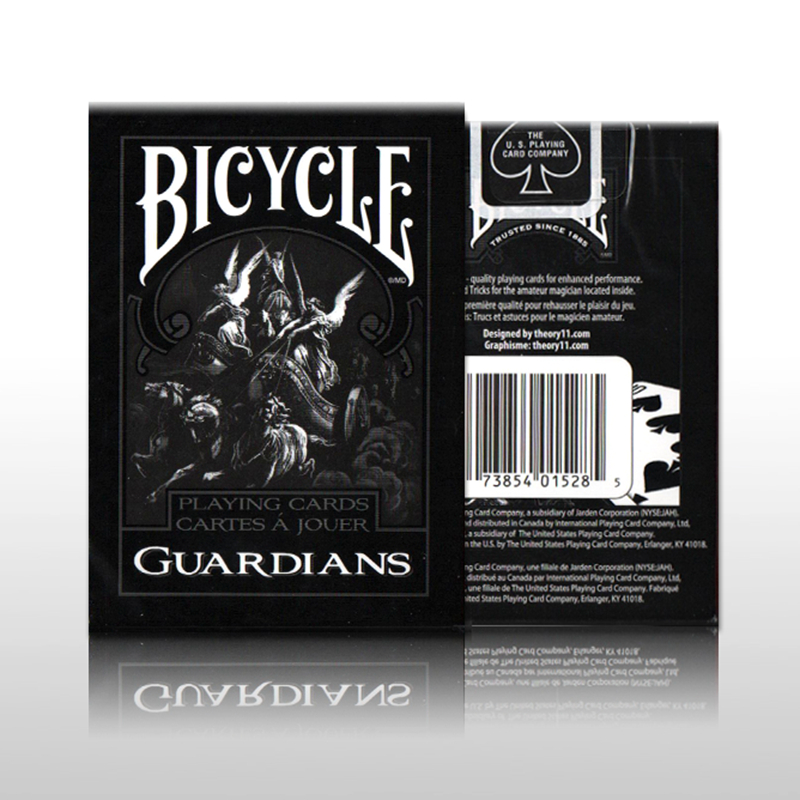 Magicians favorite Bicycle Guardians Playing Cards By Theory11 Black Magic Cardistry Deck Guardian Gift Collection Poker