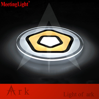 Meetinglight Modern Pentagon Dia50cm Acrylic Remote Control Dimming Led Ceiling Light Living Room Bed Study Room