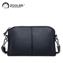ZOOLER  genuine leather clutch bags for women 2019 New Genuine Leather small shoulder bag Business day clutches #z188
