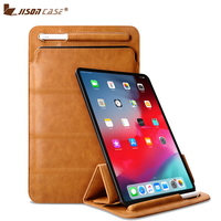 Jisoncase Sleeve Bag for iPad Pro 11 inch Microfiber Protective Case Magnetic Stand Foldable Cover for New Ver. Apple Pen 2018