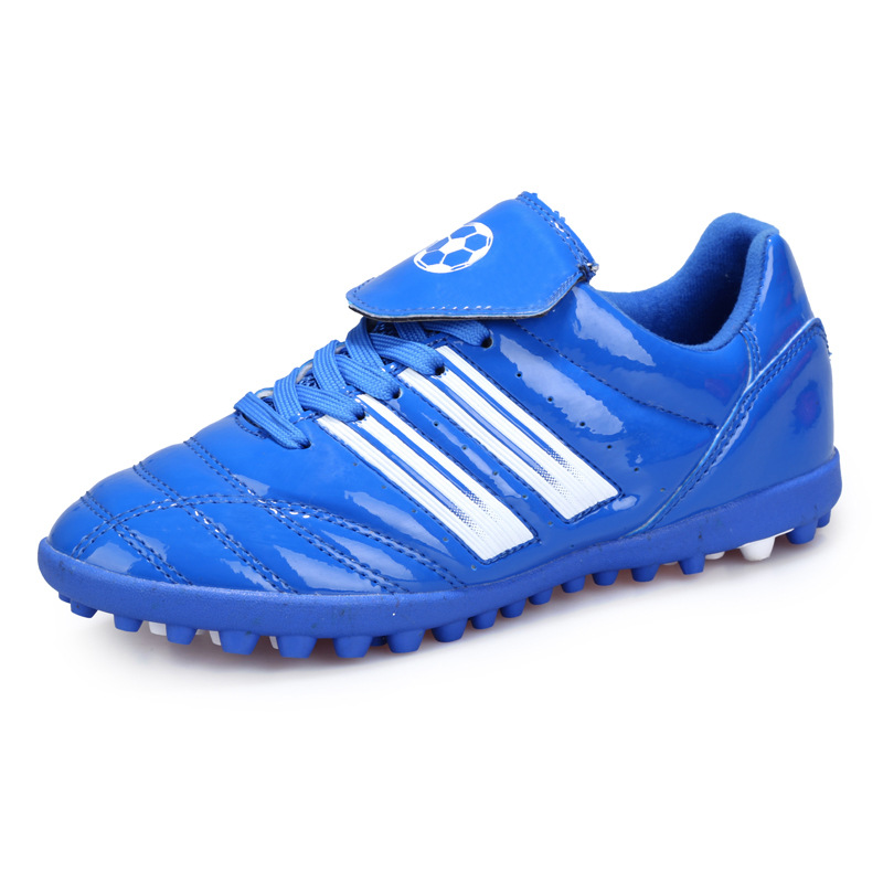 6720f74f3 Four Seasons Young Boy Soccer Shoes Broken Nail Foot Training Shoes  Artificial Grass Sneakers Football Soccer Shoes Kids Child-in Athletic Shoes  from Mother ...
