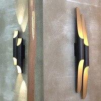 Nórdico moderno Lâmpada de Parede Sala de estar Parede do cilindro de alumínio Chanfrado Luz Arandela luminária Luminárias Lustres