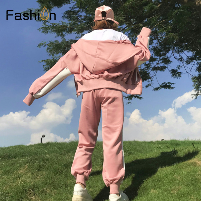 Women Hooded and Long Pants Sets Full Sleeve Tracksuit Sexy Spring Autumn Ladies Outfit Two Piece Set Sportswear Sweat Suit 3