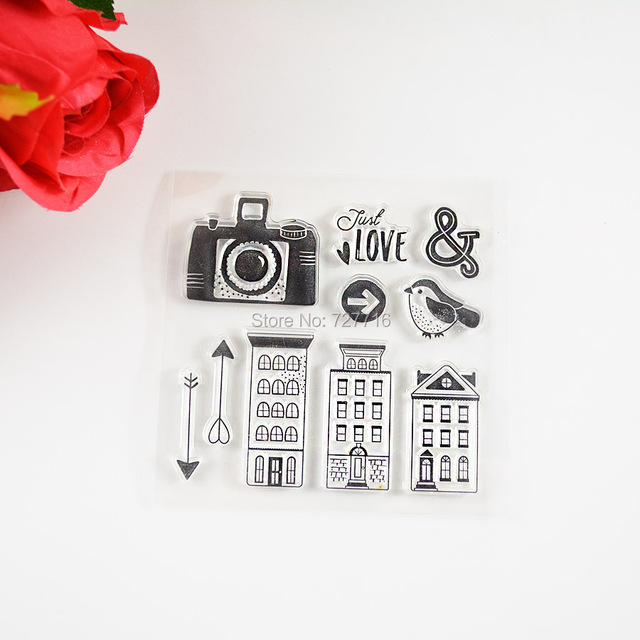 house and camera Transparent Stamp For DIY Scrapbooking/Card Making/ Decoration Supplies