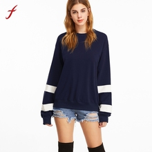 Fashion Autumn Winter Womens Long Sleeve Solid Sweatshirt Causal Round Neck Tops Blusa high quality Hoody sweatshirt Female 2017