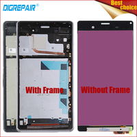5 2 100 Tested Black White For Sony Xperia Z3 D6603 D6643 D6653 LCD Display Digitizer
