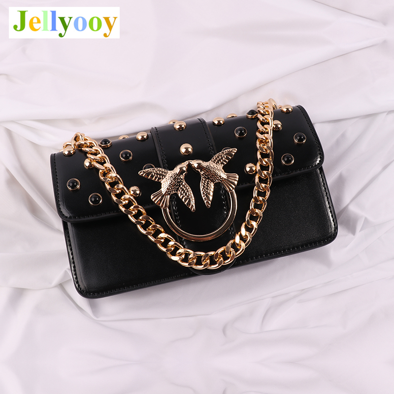 17 Color Luxury Brand Women Chain Rivets Shoulder Bag Famous Designer Lock Messenger Bag Lady Handbag Clutch Purse Louis Bacchus luxury designer brand baroque royal handbag runway lady bag purse with handle