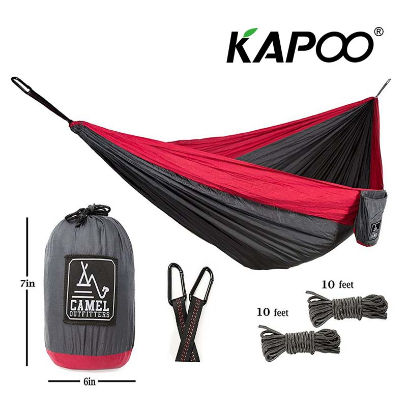Outdoor Leisure Outdoor Hammock Portable Parachute Hammock Outdoor Furniture Garden Swing Chair Double Camping Hammock Gift blue leisure outdoor hammock portable parachute hammock outdoor furniture single double hammock picnic mat camping hammock