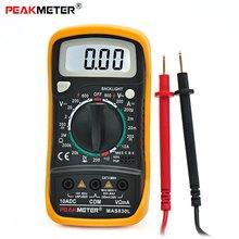 LCD Digital de Mano Eléctrico Amperímetro Del Voltímetro Del Multímetro MAS830L AC/DC Voltaje/Corriente DC/Resistencia Multiprobador