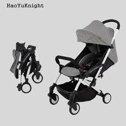 HaoYuKnight Carrinho De Bebe легкая коляска, быстрая Складная коляска, детские коляски из алюминиевого сплава