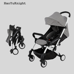 HaoYuKnight Carrinho De Bebe Lichtgewicht Wandelwagen Quick Opvouwbare Kinderwagen Aluminiumlegering kinderwagens