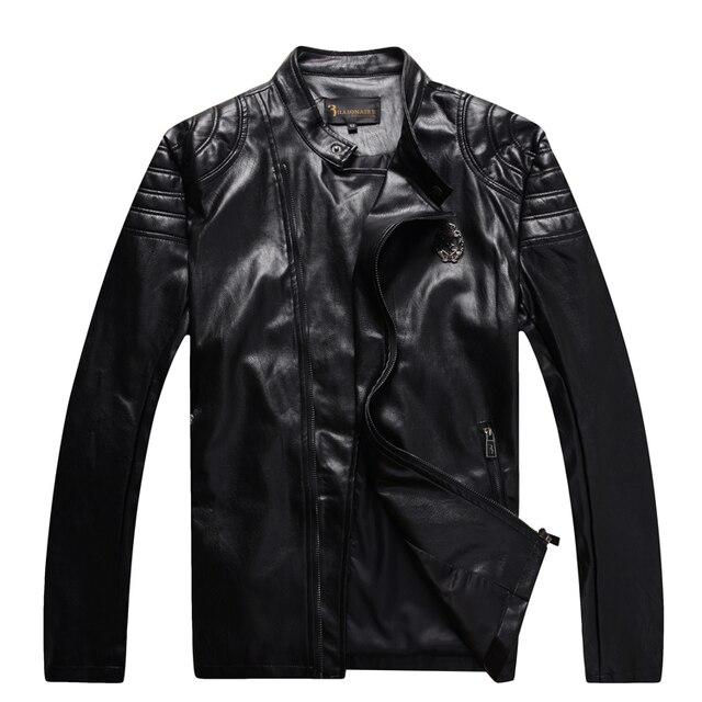 Billionaire italian couture leather jacket men's 2016 winter fashion handsome comfort keep warming gentleman free shipping
