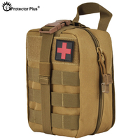 PROTECTOR PLUS Tactical Medical Bag Camping Emergency Utility Pouch Nylon Multi function First Aid Treatment Molle Military Bags|Climbing Bags| |  -