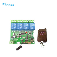 Sonoff 4 Channel Inching Self Locking Interlocking WiFi Wireless Switch 5V 32V With 433 Remote For