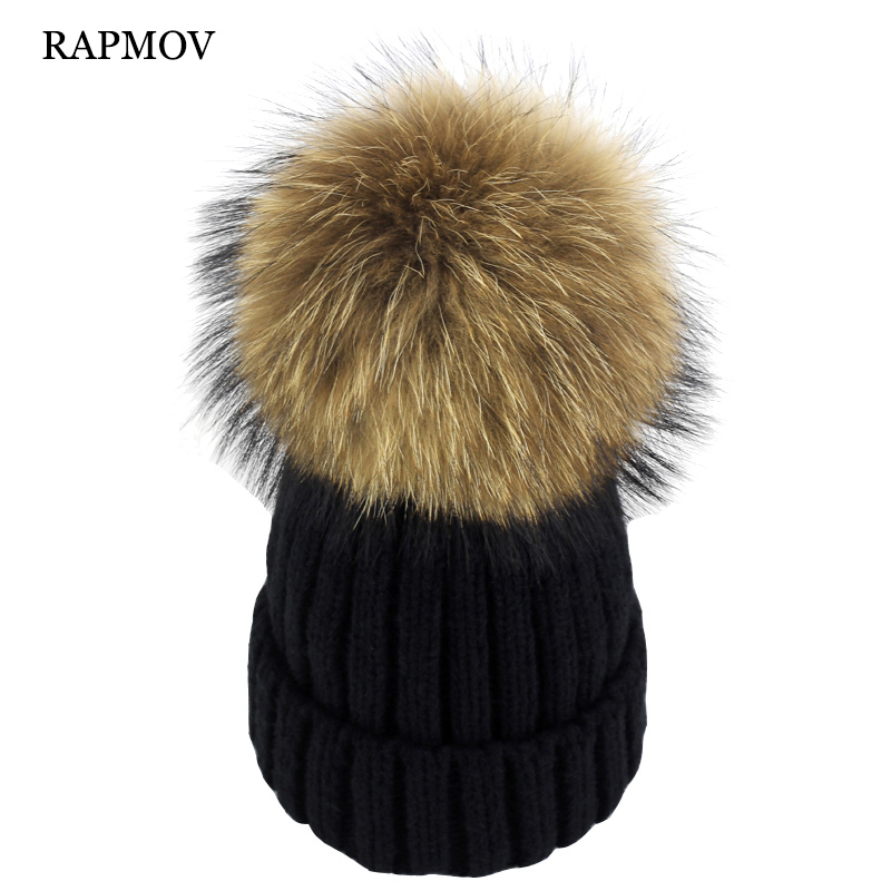 brand new thick female cap mink and fox fur ball cap pom poms winter hat for women girl 's wool hat knitted cotton beanies cap real mink fur hat for women winter knitted mink fur beanies cap fox fur pom poms brand new thick female cap