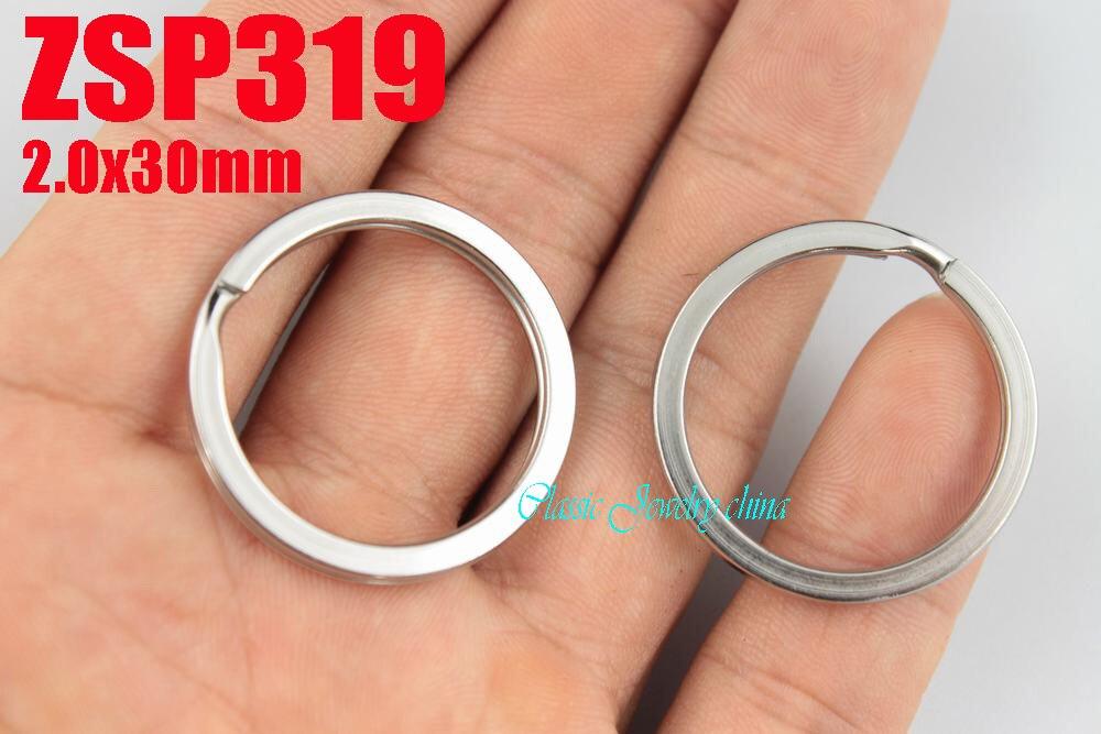 """2000 יחידות 30 מ""""מ נירוסטה מחזיקים מפתחות מפתח טבעת תכשיטי טבעות מפתח פיצול חלקי אביזרי DIY ZSP319"""