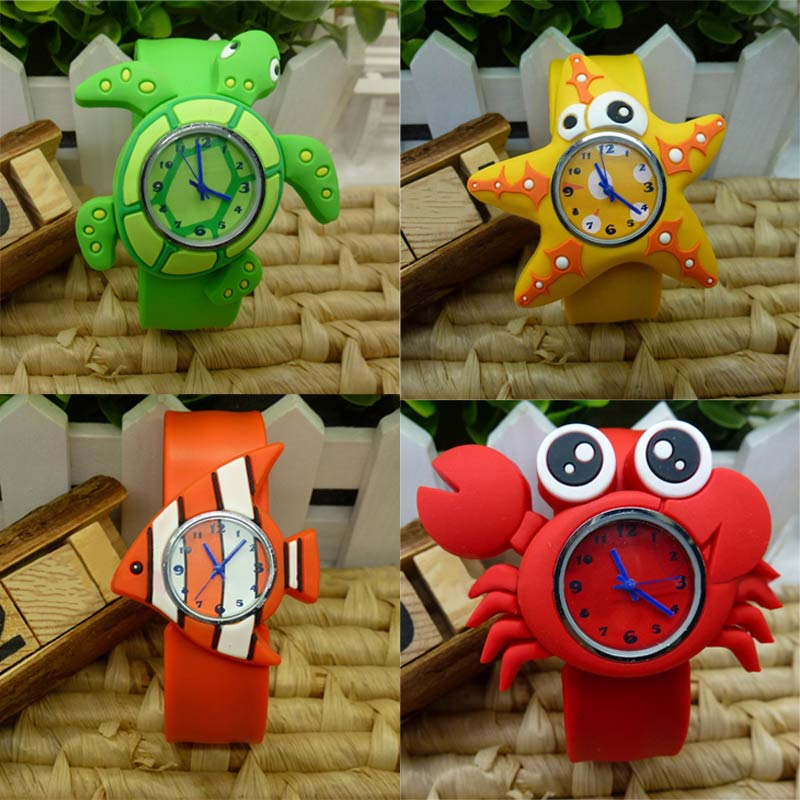 New Fashion Cute Animal Cartoon Silicone Band Bracelet Wristband Watch For Babies Kids Gift High Quality LL cute love heart hollow out bracelet watch for women