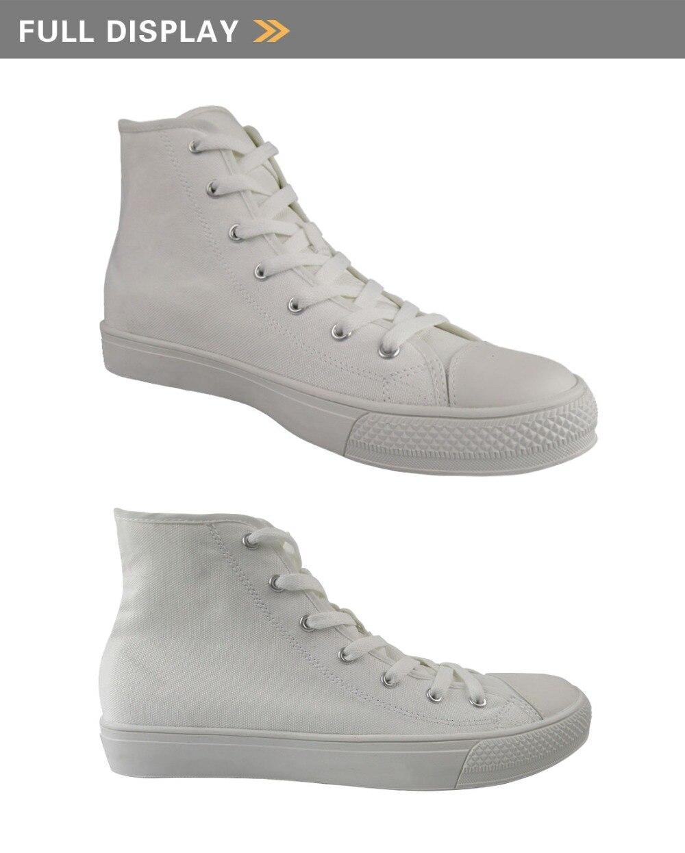 Doginthehole Image personnalisée Logo homme chaussures de course Sport appartements femmes baskets pour filles haut haut Gym chaussures confortable toile chaussure - 5