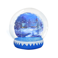 2018 Good quality nflatable christmas snow globe decoration inflatable snow globe