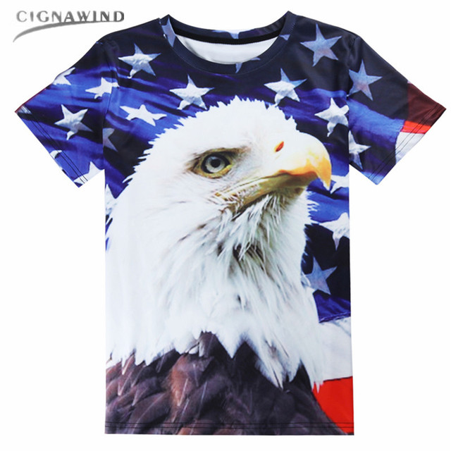 889c8e77c3f New funny USA Flag Eagle Printed 3D t shirts Women Mens t shirts casual t  shirt Hip hop tops unisex Tees Tops Plus size S-5XL