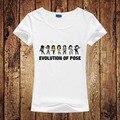 Evolution Of Pose Tshirt Michael Jackson Fashion Funny T Shirt Casual Novelty T-shirt Women Style Round Neck Sleeve Short Tees