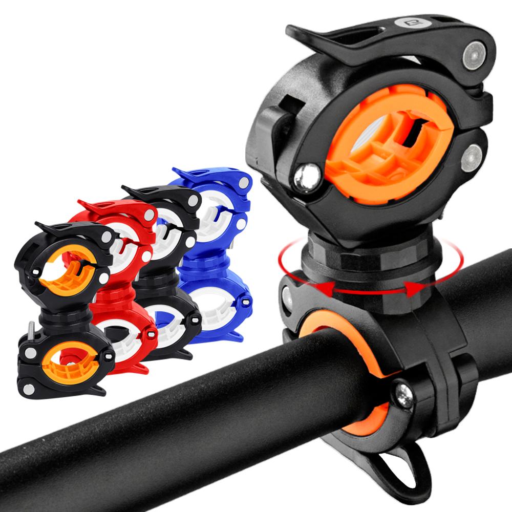 Bicycle-light-bracket-LED--bracket-handlebar-bracket-multi-function-two-way-bicycle-bracket-360-rotation