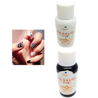 8 bottles Water based White/Black Aibrush Nail Ink Carnaval Airbrush Parint For Nails Nail Color Sets Pro For Gradient Nails