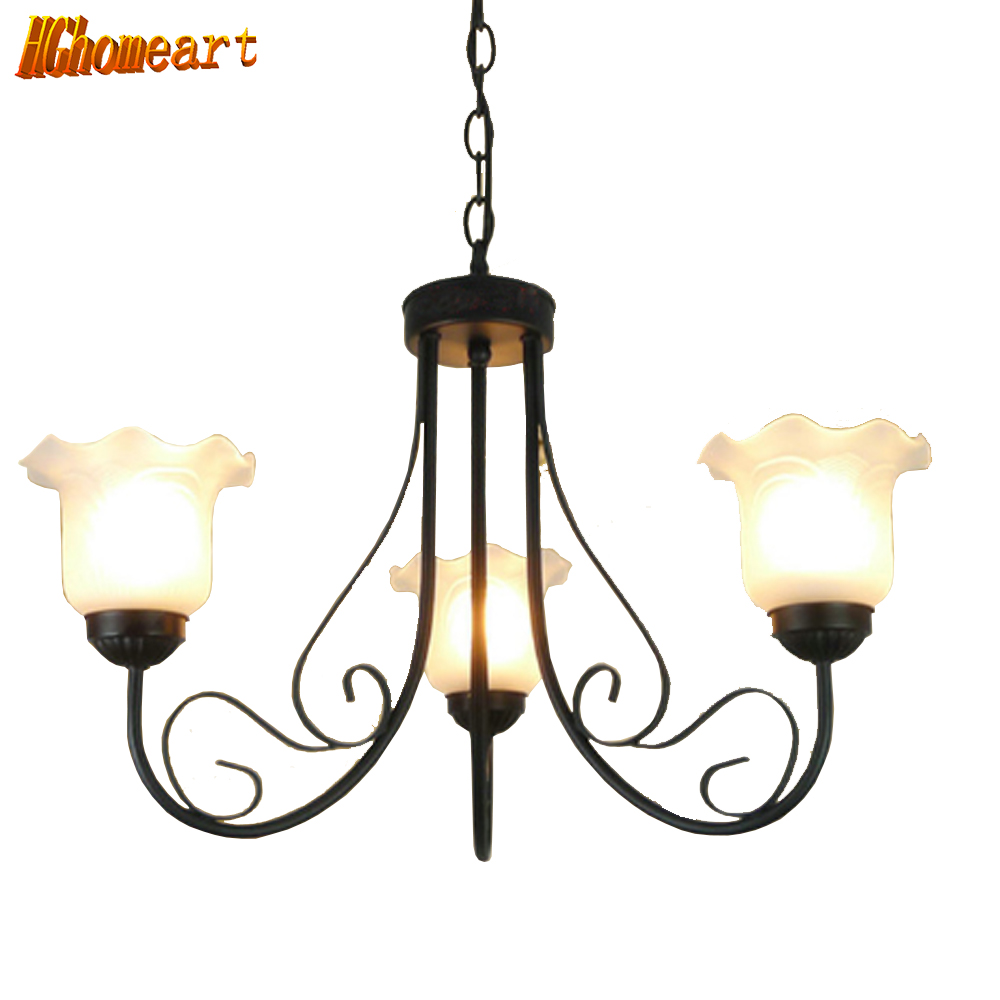 Hghomeart LED Lamp Living Room Retro Chandelier Led Bedroom Lighting Dining Pastoral Simplicity Antique Chandelier Ceiling 220v wholesale factory price retro copper lighting led ceiling light for home bedroom study dining room lamp