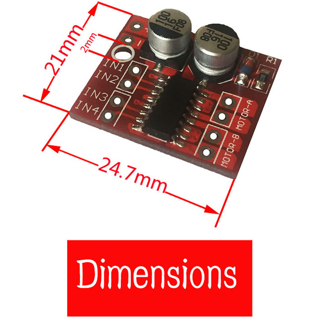 Dual DC Motor Led treibermodul vorwärts oder rückwärts Pwm ...