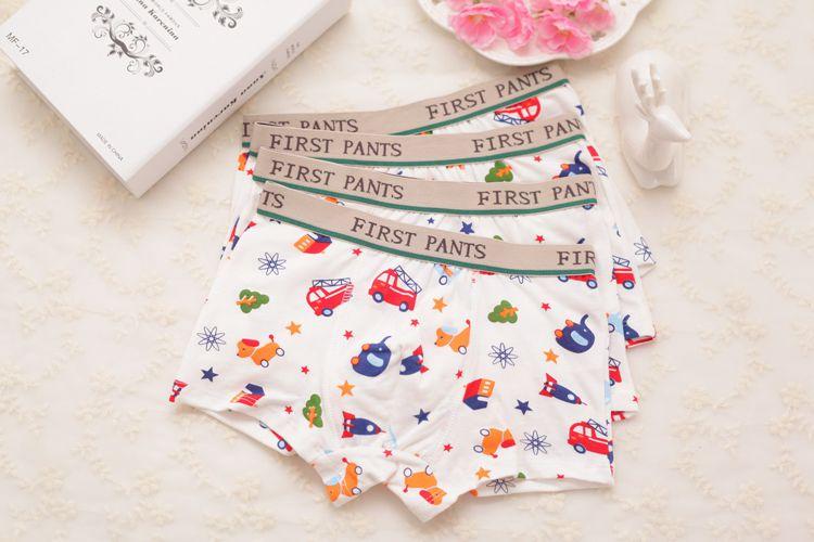 2 Pcs/lot 2-10T Quality Cute Car Printed Boys Underpants Cotton Boys Boxer Briefs Students Underwear Boy Briefs Kids Clothing