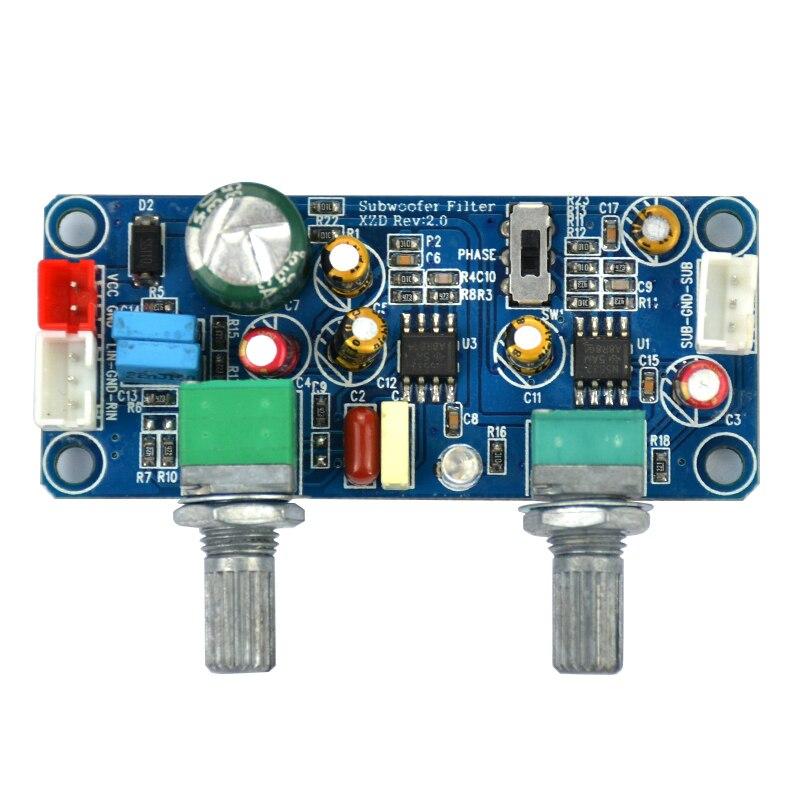 1pcs dc 9 32v low pass filter bass subwoofer pre amp amplifier board single power in amplifier. Black Bedroom Furniture Sets. Home Design Ideas