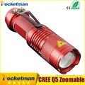 CREE LED Flashlight Light ZOOM 7W 2000LM Waterproof Lanterna LED 3 Modes Zoomable Torch AA 14500 battery Flashlight Linterna led