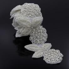 1 Yard 60mm Rhinestone Trim Crystal Chain For Costume Wedding Crystals Appliques For Wedding Sash Belt Clothing Trimming