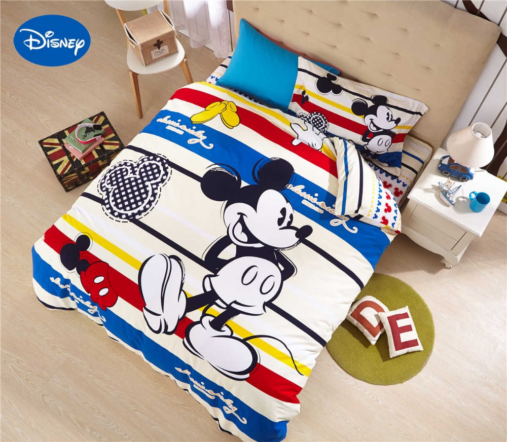 Mickey Mouse Comforters Bedding Set Baby Boys Bed Cover