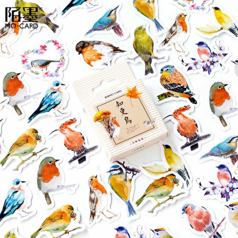 45 יח'\סט kawaii מכתבים מדבקת creativa רומן חמוד ציפורית דפוס יומן ציוד לבית ספר מכתבים חג המולד מדבקות מתנה