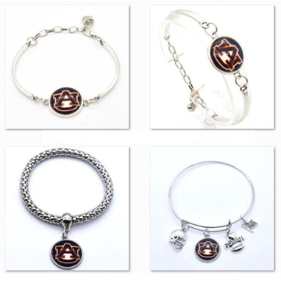 2018 Promotion Jewelry Sport Bracelet Auburn University Tigers Charms Bracelet Bangle Women Men Fashion Accessories SPT86