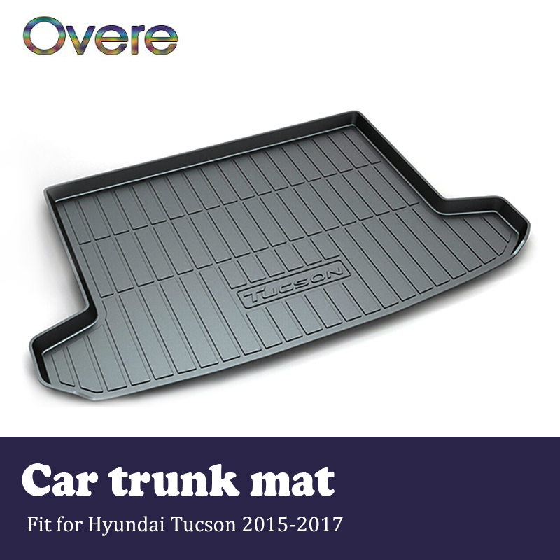 Overe 1Set Car Cargo rear trunk mat For Hyundai Tucson 2015 2016 2017 Styling Boot Liner Waterproof Anti-slip mat Accessories все цены