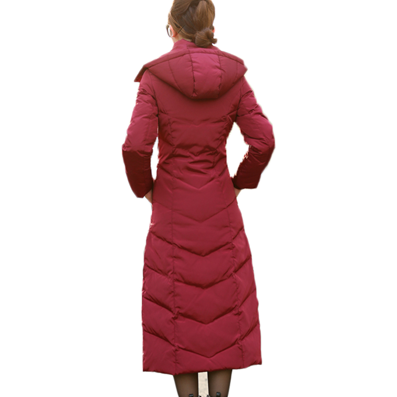 19b7332dd US $73.2 40% OFF|HIJKLNL padded winter down jacket for women white duck  down coat 2017 long puffer coat silm thicker down parkas hooded LZ351-in  Down ...