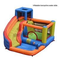 Indoor Small family Inflatable trampoline water slide Children's inflatable castle kindergarten playground Outdoor Water Slide