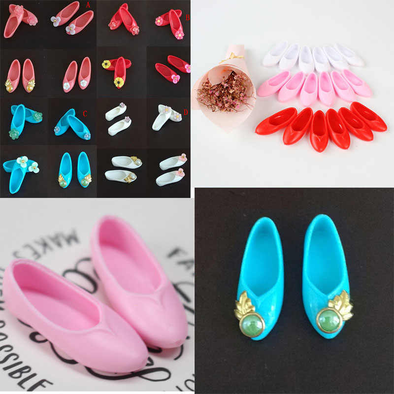 Mixed Style Colorful Ancient Flat Shoes Cute Platform Shoes Doll Accessories Kids Gifts