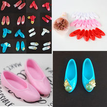 Mixed Style Colorful Ancient Flat Shoes Cute Platform Shoes Doll Accessories Kids Gifts(China)