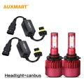 Auxmart G9 9005 HB3 Dipped Beam Car LED Headlight Kit SMD 80W 9600lm 6500K Fog Lights 12v 24v LED Headlamps + CANBUS Error Free