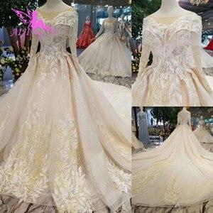 Image 4 - AIJINGYU تول فستان حمل أثواب زائد حجم الإسلامية اليابان الحقيقي ثوب الذيل فساتين الزفاف الرسمي