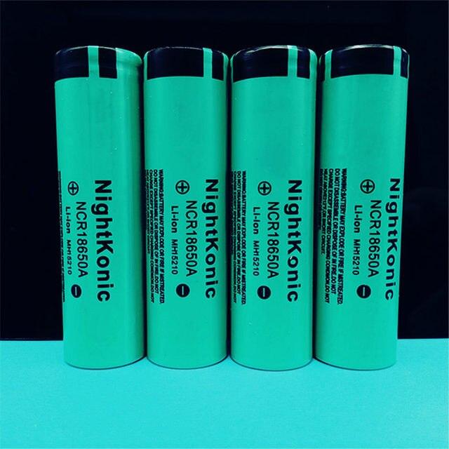 Batería recargable Original NIGHTKONIC 4 unids/lote 3,7 V 2000 mAh Li-ion 18650 para la batería del Banco de energía linterna del cigarrillo electrónico battey verde