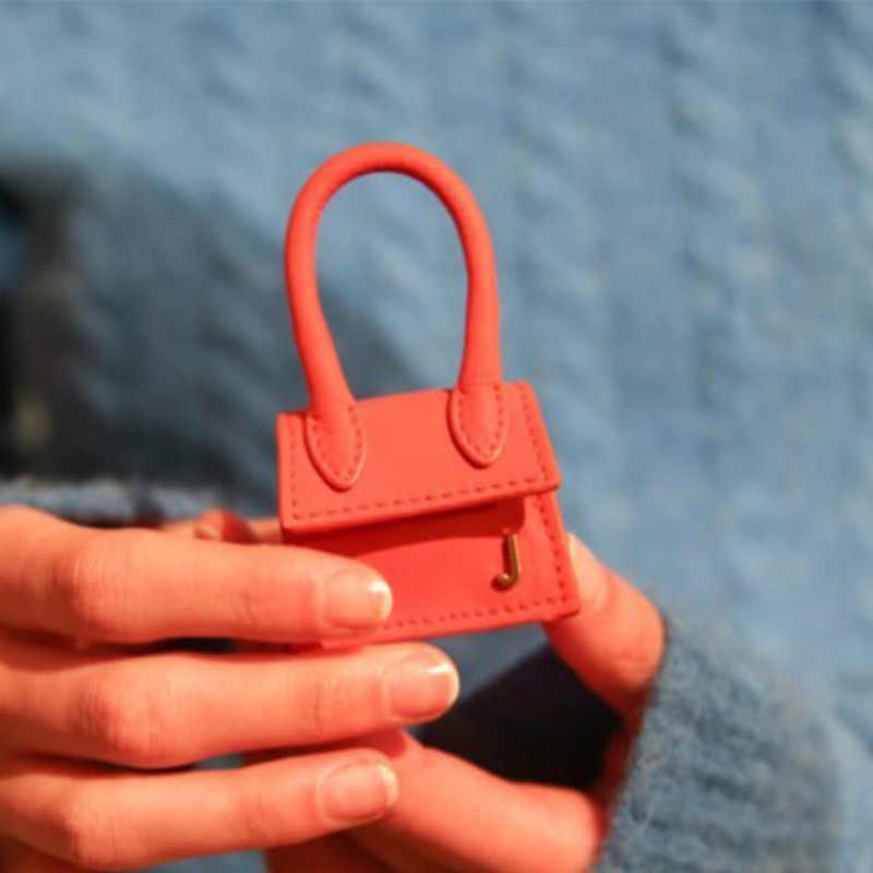 حقيبة يد الإناث السوبر ميني الأذن الفتيات 2019 العلامة التجارية حقيبة أنيقة للزينة الأزياء حقيبة ساع بو رفرف المرأة Crossbody أكياس