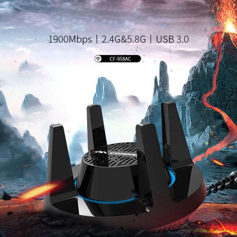 Adaptateur réseau sans fil 1900 M double bande adaptateur WiFi Stable pour PC Gaming XXM8